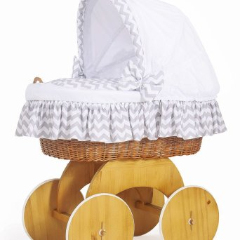 Bianca Drape White Wicker Crib Moses Basket My Sweet Baby White