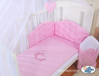 My sweet baby bettwäsche set tlg chic rosa
